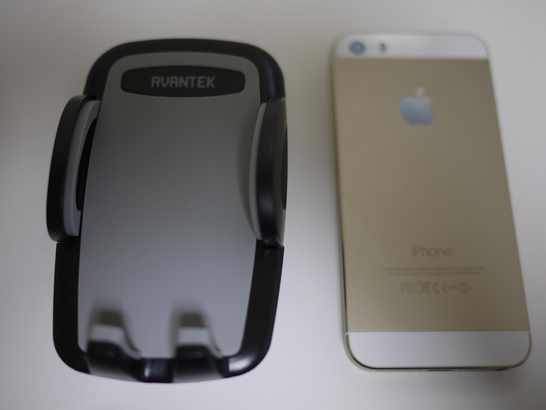 ホルダとiPhone5S